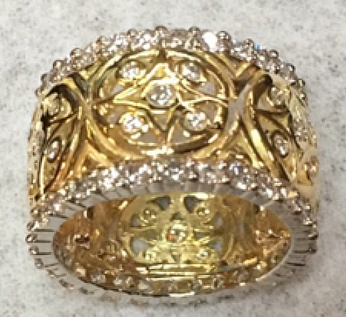 repaired gold ring