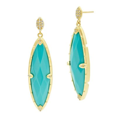 Turquoise Marquise drop earrings